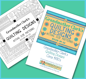 1930's grandma clark quilting designs vintage actual size patterns e-pattern pdf download