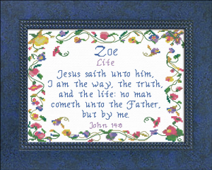 Name Blessings - Zoe 3   Crafting   Cross-Stitch   Other