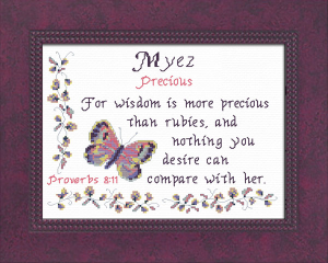 Name Blessings - Myez 2 | Crafting | Cross-Stitch | Other