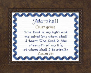 Name Blessings - Marshall | Crafting | Cross-Stitch | Other