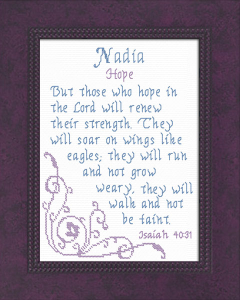 Name Blessings - Nadia   Crafting   Cross-Stitch   Other