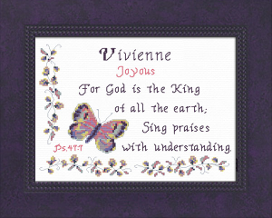 Name Blessings - Vivienne | Crafting | Cross-Stitch | Other