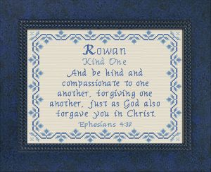Name Blessings - Rowan 3   Crafting   Cross-Stitch   Other