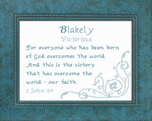 Name Blessings - Blakely 2 | Crafting | Cross-Stitch | Other