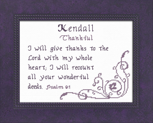 Name Blessings - Kendall 2 | Crafting | Cross-Stitch | Other