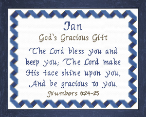 Name Blessings - Ian | Crafting | Cross-Stitch | Other