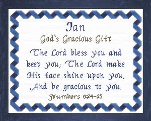 name blessings - ian