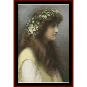 campaspe – henry ryland cross stitch pattern by kathleen george at cross stitch collectibles