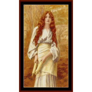 Glamour – Henry Ryland cross stitch pattern by Kathleen George at Cross Stitch Collectibles | Crafting | Cross-Stitch | Other