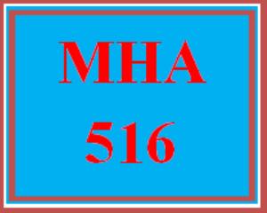 mha 516 week 4 discussion board