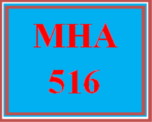 mha 516 week 6 discussion board