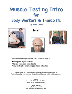 intro to muscle testing | online training