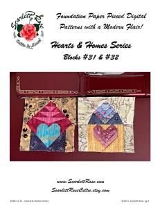 home blocks 31 & 32 - hearts & homes series foundation paper pieced (fpp) block pattern