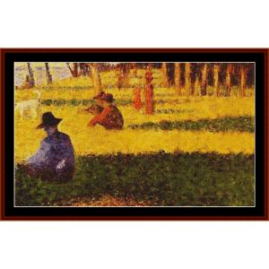 La Grand Jatte – Georges Seurat cross stitch pattern by Kathleen George at Cross Stitch Collectibles | Crafting | Cross-Stitch | Other