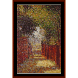 Rue St. Vincent – Georges Seurat cross stitch pattern by Kathleen George at Cross Stitch Collectibles | Crafting | Cross-Stitch | Other