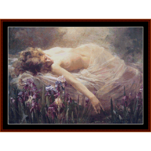 dream – arthur hacker cross stitch pattern by kathleen george at cross stitch collectibles