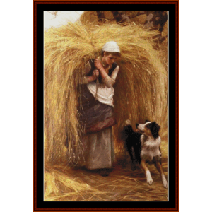 returning from the hayfield – arthur hacker cross stitch pattern by kathleen george at cross stitch collectibles