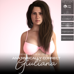 anatomically correct: giuliana for genesis 3 and genesis 8 female (8.1)
