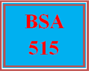 bsa 515 all discussions