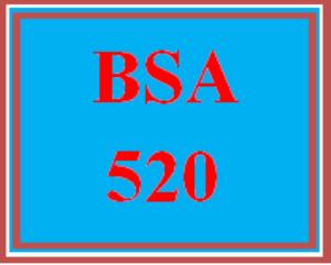 BSA 520 Entire Course | eBooks | Education