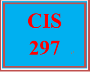 CIS 297 All Discussions | eBooks | Education