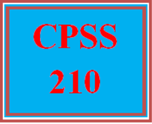 CPSS 210 All Discussions   eBooks   Education