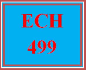 ECH 499 Wk 5 Discussion - Teacher Work Sample | eBooks | Education