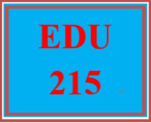 edu 215 all discussions