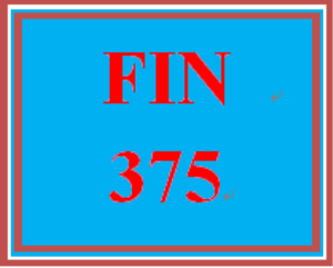 FIN 375 Week 1 Participation Discussion Question 1 | eBooks | Education