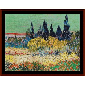 the garden at arles – van gogh cross stitch pattern by kathleen george at cross stitch collectibles