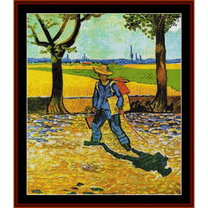 the road to tarascon – van gogh cross stitch pattern by kathleen george at cross stitch collectibles