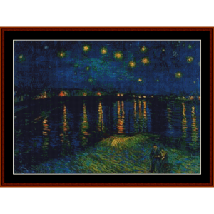 starlight over the rhone – van gogh cross stitch pattern by kathleen george at cross stitch collectibles