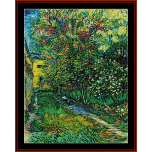 the garden of the asylum – van gogh cross stitch pattern by kathleen george at cross stitch collectibles