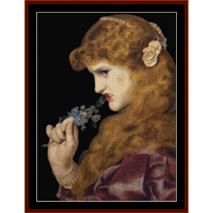 love's shadow – anthony f. sandys cross stitch pattern by kathleen george at cross stitch collectibles