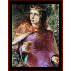 queen eleanor – anthony f. sandys cross stitch pattern by kathleen george at cross stitch collectibles