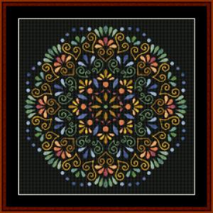mandala 68 cross stitch pattern by kathleen george at cross stitch collectibles mandala  cross stitch pattern by kathleen george at cross stitch collectibles