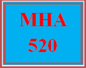 mha 520 week 4 discussion board