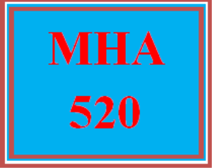 mha 520 week 6 discussion board