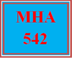 MHA 542 Wk 6 - Course Project: Part 2 | eBooks | Education