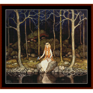 princess in the forest – john bauer cross stitch pattern by kathleen george at cross stitch collectibles