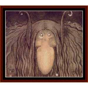 troll head – john bauer cross stitch pattern by kathleen george at cross stitch collectibles