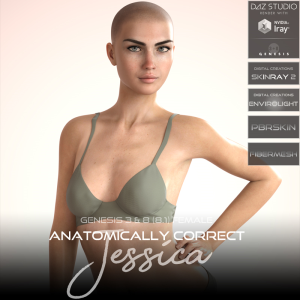 Anatomically Correct: Jessica for Genesis 3 and Genesis 8 Female (8.1) | Software | Design