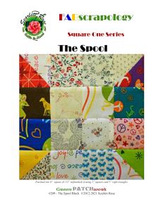 the spool block - modern patchwork block digital pattern