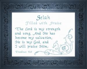 name blessings - selah