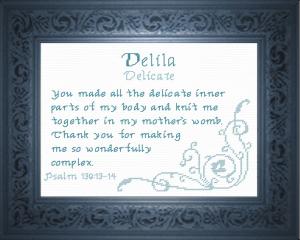 name blessings - delila