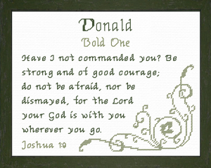 name blessings - donald