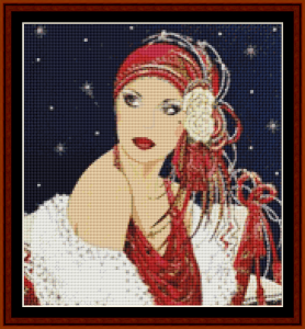 he's late - christmas cross stitch pattern by kathleen george at cross stitch collectibles