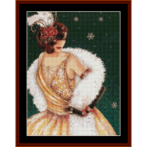 on the way to the party - christmas cross stitch pattern by kathleen george at cross stitch collectibles