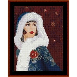 is that santa? - christmas cross stitch pattern by kathleen george at cross stitch collectibles