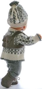 dollknittingpatterns  0217d sune -  genser, bukse, kortermet genser, lue og sokker-(norsk)